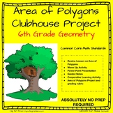 6th Grade Math -Geometry - Area of Polygons Project (CCSS