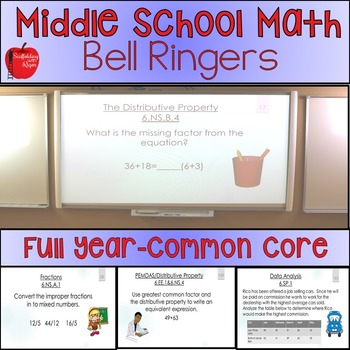 Math Bell Ringers/ Bell Work FULL YEAR with Answer Key