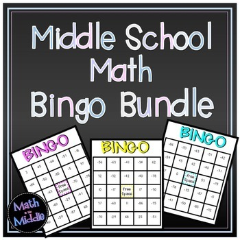Middle School Math Bingo Math Review Game Bundle