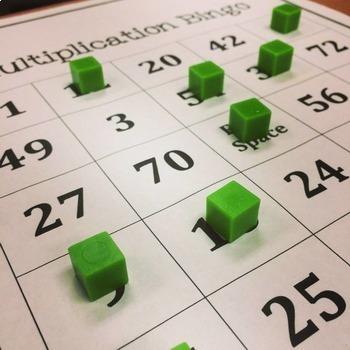 Math Bingo Bundle (Squares and Roots, Negative Number, AND Multiplication Bingo)