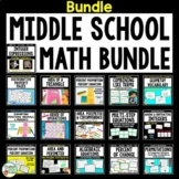 Middle School Math Bundle of Hands-On Activities