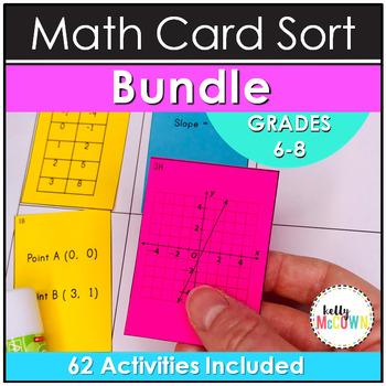 Middle School Math Card Sort Lessons and Cut & Paste Activities: THE MEGA BUNDLE