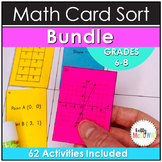 Math Card Sorts and Cut and Paste Activities Middle School BUNDLE