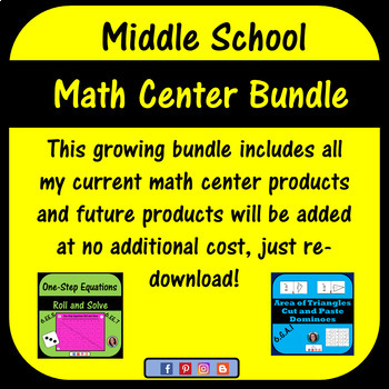 Middle School Math Center Bundle