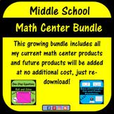 Middle School Math Center Bundle