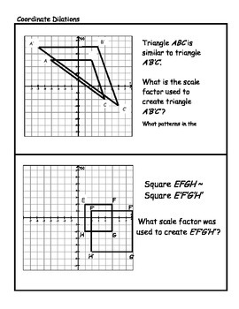 Middle School Math Center: Dilations