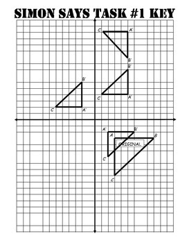 Middle School Math Center: Graph Dilations, reflections and Translations