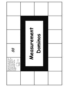 Middle School Math Center: Measurement Dominos