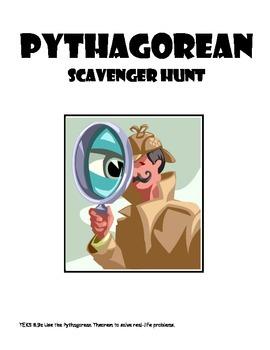 Middle School Math Center: Pythagorean Scavenger Hunt