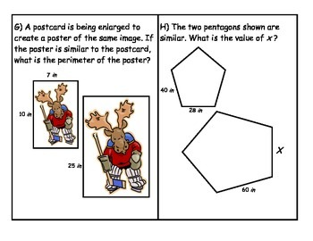 Middle School Math Center: Similar figures and finding missing measurements