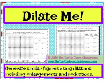 Middle School Math Center: Similar figures using dilations