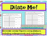 Middle School Math Center: Similar figures using dilations