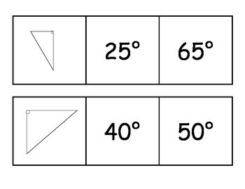 Middle School Math Center: Triangle Trios with Pictures Matching Review