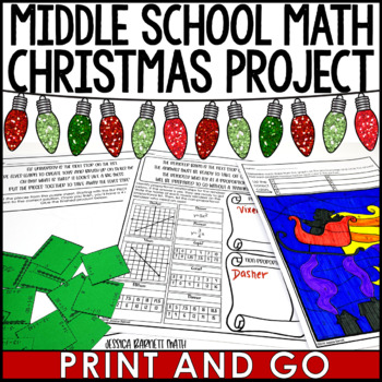 Middle School Math Christmas Project