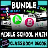 Middle School Math Classroom Decor BUNDLE