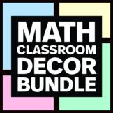 Middle School Math Classroom Decor Bundle - Math Posters & Math Anchor Charts