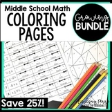 Middle School Math Coloring Pages {Version TWO - A Growing