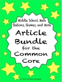 BUNDLE Middle School Math Articles for the Common Core