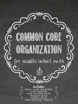Middle School Math Common Core Organization Bundle!
