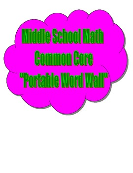 Common Core Middle School Math - Portable Word Wall