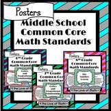 Middle School Math Common Core Standard Poster Bundle {Che