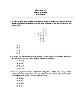 Middle School Math Competition Questions