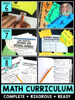 Middle School Math Curriculum Information
