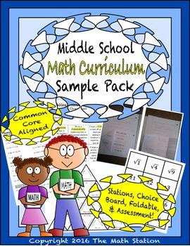 Middle School Math Curriculum Sample