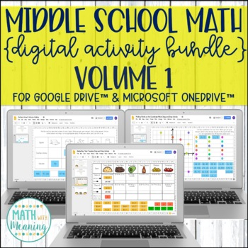 Middle School Math DIGITAL Activity Bundle for Google Drive™