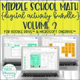 Middle School Math DIGITAL Activity Bundle for Google Drive & OneDrive Volume 2
