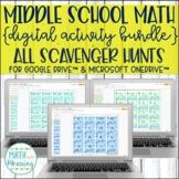 Middle School Math DIGITAL Scavenger Hunt MEGA Bundle for Google and OneDrive