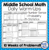 Daily Warm Ups for Middle School Math - Probability and Statistics