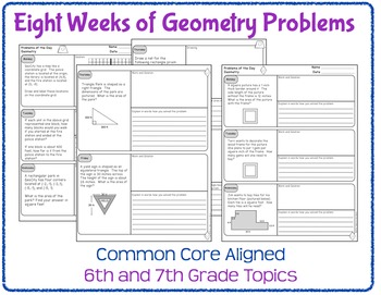 Daily Word Problems for Middle School Math - Geometry