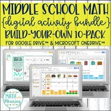 Middle School Math Digital Activity Build-Your-Own Custom Bundle 10-Pack