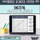 Middle School Math Digital Growing Bundle
