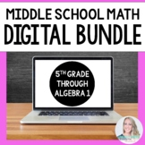 Middle School Math Digital Resources Bundle - Perfect for