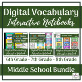 Middle School Math Digital Vocabulary Interactive Notebook