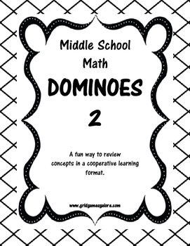 Middle School Math Dominoes - Low level