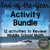 Spring Break Middle School Math Review BUNDLE