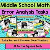 Middle School Math Error Analysis