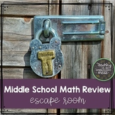 Middle School Math Escape Room--6th Grade STAAR Review