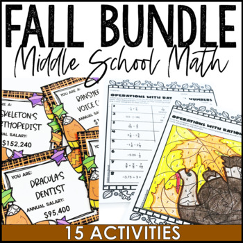 Halloween and Thanksgiving Math Activity Pack for Middle School