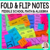 Middle School Math Foldable Style Notes - 50% off Today Only!