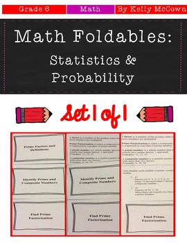 Middle School Math Foldable Notes: Statistics & Probability {Grade 6}