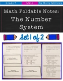 Middle School Math Foldable Notes: The Number System {Grade 7: Set 1}