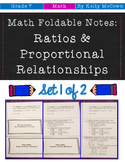Middle School Math Foldable Notes: Rates & Proportionality {Grade 7: Set 1}