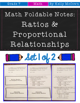 Middle School Math Foldable Notes: Rates & Proportionality