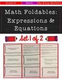 Middle School Math Foldables: Expressions & Equations {Grade 6: Set 1}