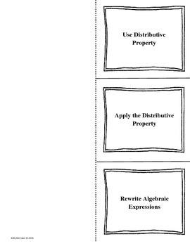 Middle School Math Foldables: Expressions & Equations {Grade 6: Set 2}