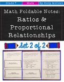 Middle School Math Foldable Notes: Rates & Proportionality {Grade 7: Set 2}